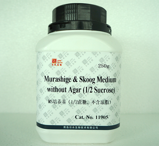 MS培养基1/2蔗糖不含琼脂Murashige & Skoog Medium without Agar 1/2Sucrose